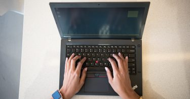 Black Lenovo Thinkpad